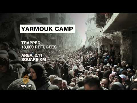 Palestinian refugees desperate to flee Syria