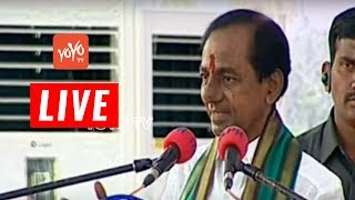 Telangana CM KCR Live Speech at Farmers Coordination Committee Afternoon Meeting