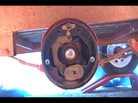 Drum Brake Shoe Removal and Installation on a Trailer