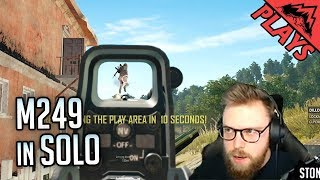 M249 IN SOLO - PlayerUnknown's Battlegrounds Gameplay #149 (PUBG FPP Solo)