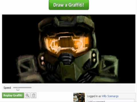 Facebook Graffiti: Halo MasterChief  June 2010