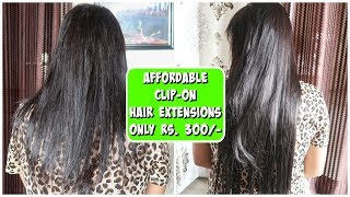 How to Use Hair Extensions on Thin and Short Hair ?   Flipkart Affordable Hair Extension Review