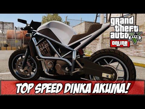 GTA V - TOP SPEED Dinka Akuma x Hakuchou Qual é Mais Rápida? (Ps4)