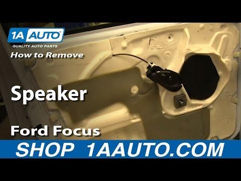 How To Install Remove Speaker Ford Focus 4 Door