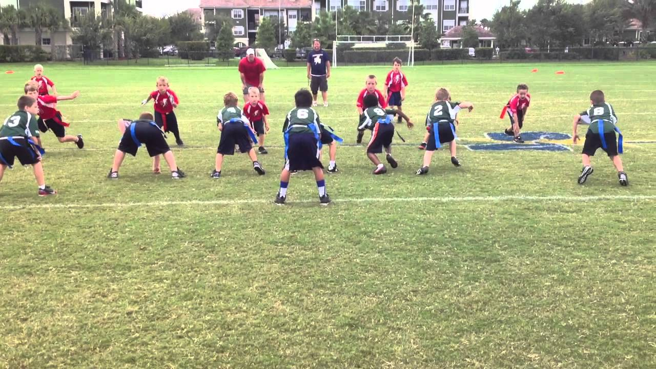 Kids playing touch football