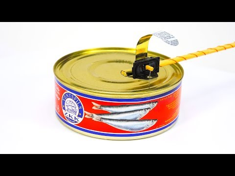 Проигрыватель грампластинок из консервных банок