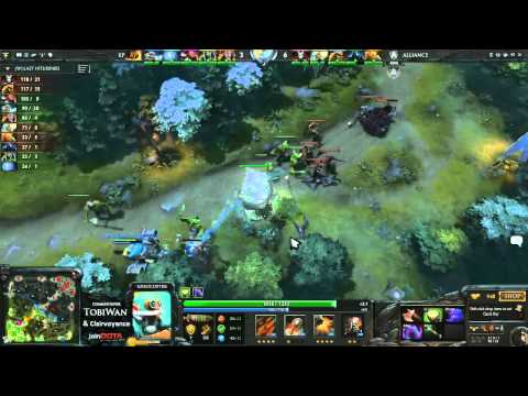 The Alliance vs Kaipi   StarLadder VII DOTA2   TobiWan & Clairvoyance