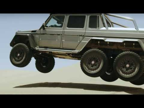 Commuting. In a Mercedes-Benz G 63 AMG 6x6