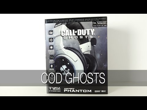 Turtle Beach Call of Duty Ghosts Ear Force Phantom Wireless Gaming Headset Unboxing & Review