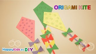 Origami Kite | Paper Crafts | Kid's Crafts and Activities | Happykids DIY