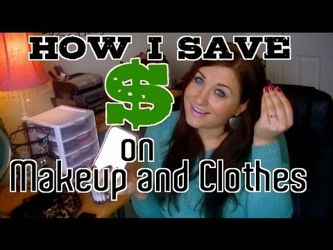 How I Save Money on Makeup and clothes! High end and drugstore makeup.