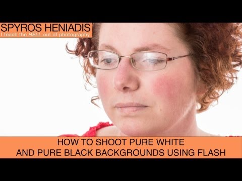 How to Get a Clean White and Pure Black Background When Shooting Portraits