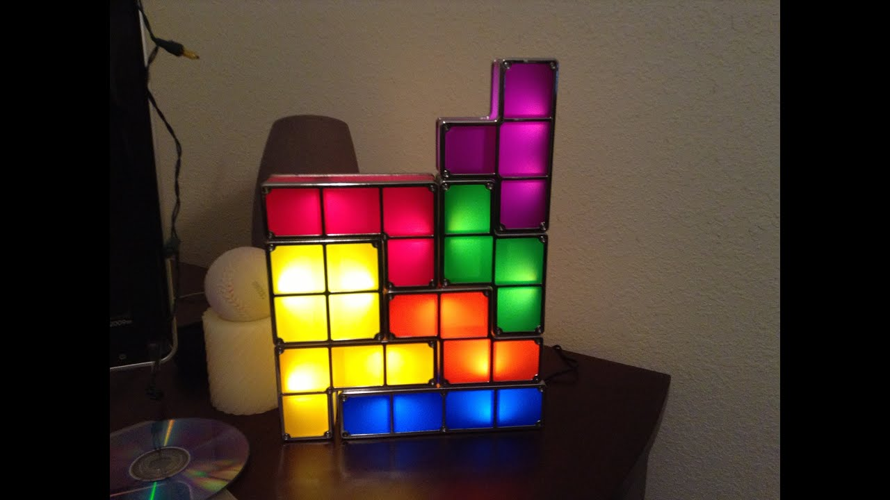 tetris stackable led desk lamp youtube. Black Bedroom Furniture Sets. Home Design Ideas