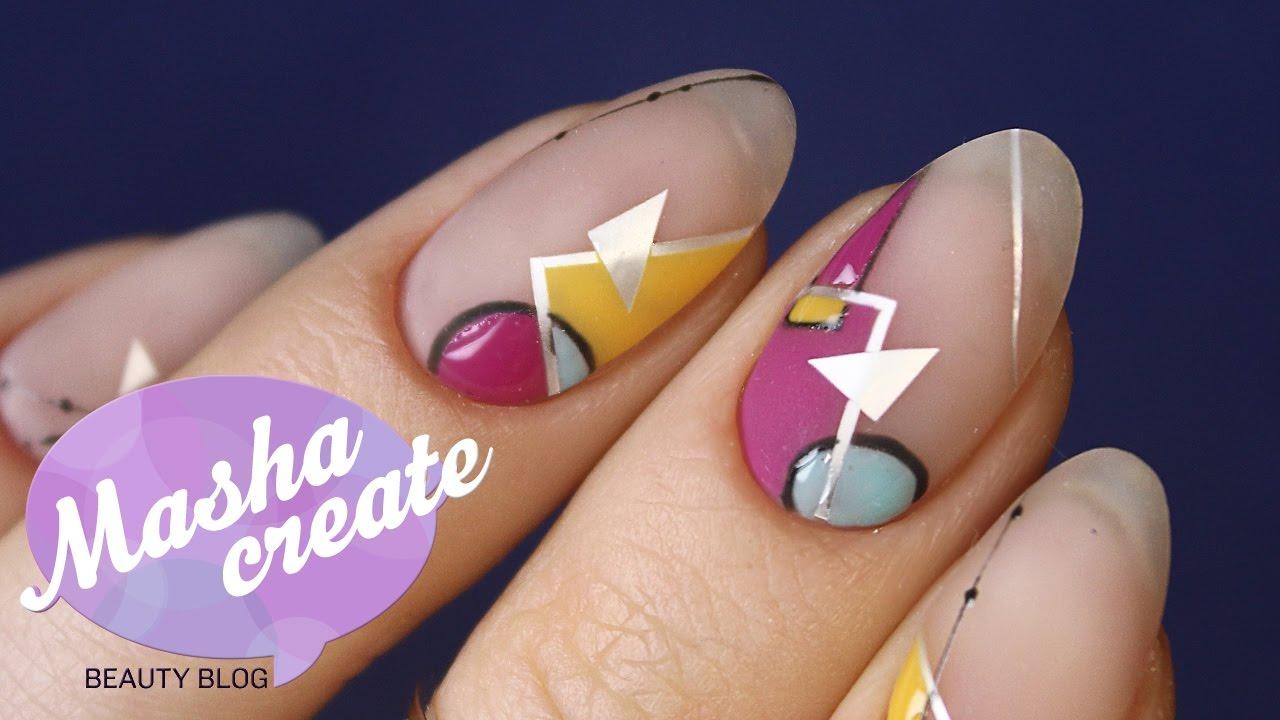ногти геометрия дизайн фото