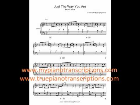 Just the Way You Are Bruno Mars Sheet Music