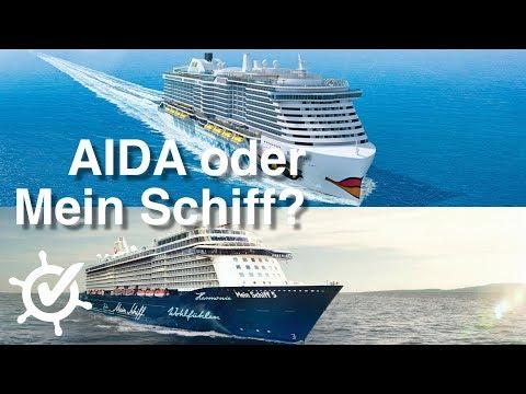 AIDA oder Mein Schiff - Der Vergleich (2018)