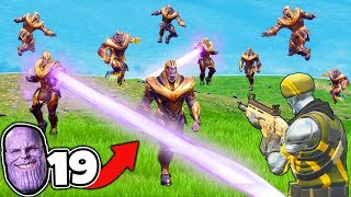 KILLING THANOS 19 TIMES in Fortnite Battle Royale