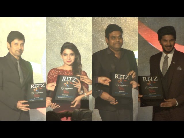 Vikram, Samantha, Harris jayaraj, Dulquer Salmaan, Varun Manian received RITZ Award 2015