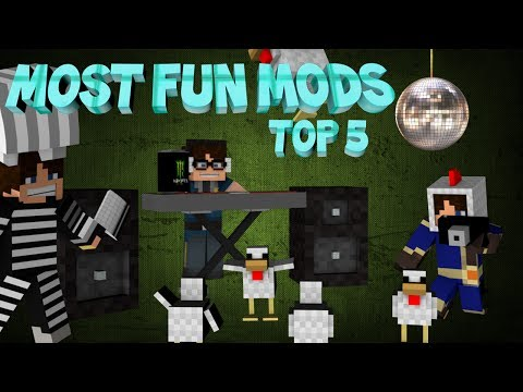 Minecraft: TOP 5 FUN MODS! (Wacky, Cool and Funny mods)
