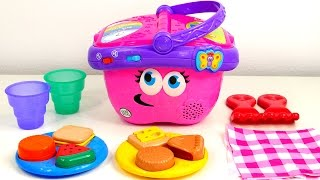 Picnic Basket Playset for Kids Playing and Learning Toys