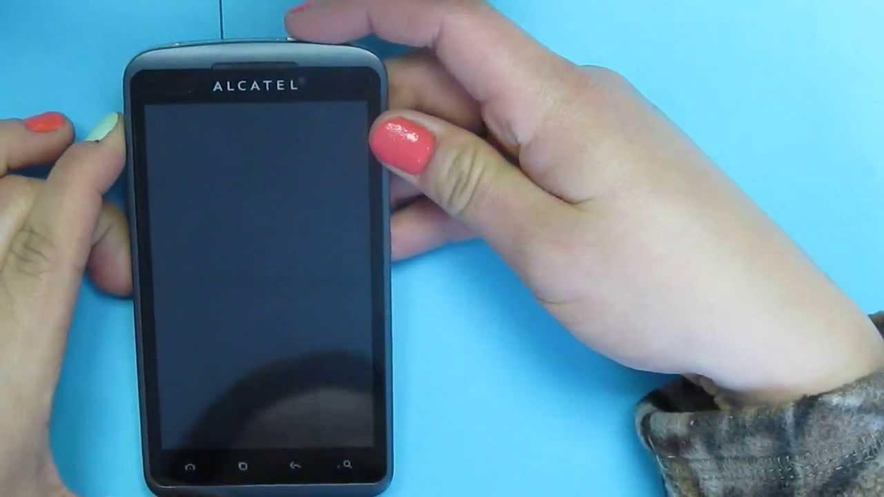 Как сделать сброс на alcatel one touch