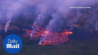 Lava flow from Hawaii volcano consumes nearby homes - Daily Mail