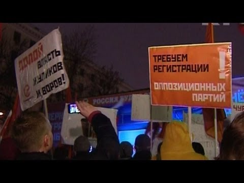 Thousands hold anti-Putin protest in Moscow