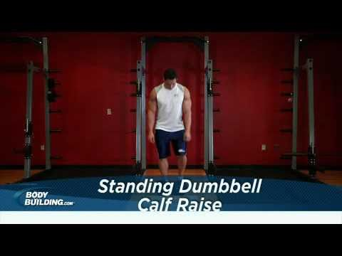 Standing Dumbbell Calf Raises - Calf Exercise - Bodybuilding.com Image 1