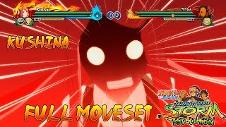 Naruto Shippuden Ultimate Ninja Storm Revolution Kushina Moveset Ultimate Justu + (Awakening)