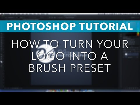 Photoshop Tutorial: How to Turn your Logo into a Brush Preset for Watermarking