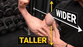 How to Get Bigger Biceps (TALLER & WIDER!)