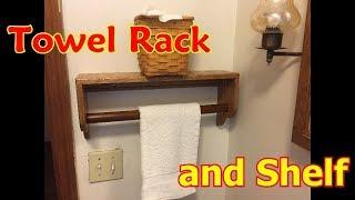 Oak Shelf and Towel Rack