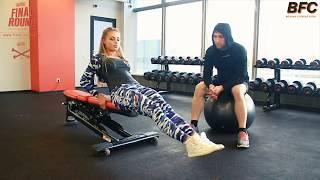 Тренировка пресса для фитнес-бикини. Мастер-класс Яны Белянской (часть 2)