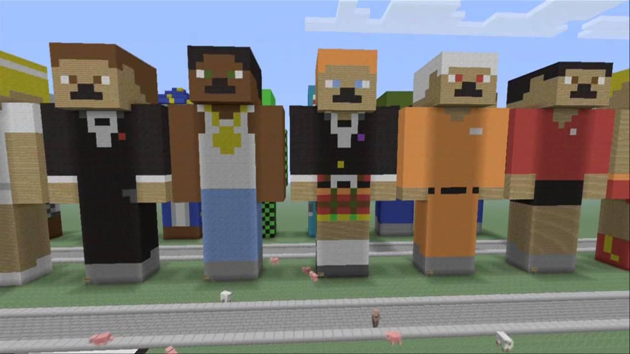 Xbox 360 Minecraft Default Skins Minecraft xbox 360 default