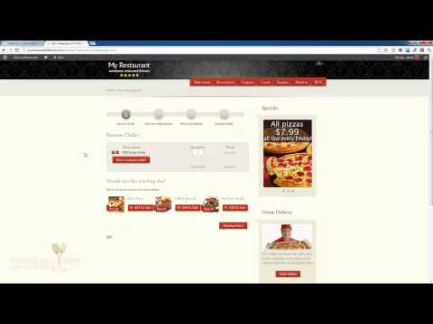 MyRestaurantTheme Shopping Cart Overview