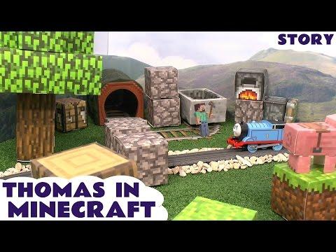 Thomas The Tank Engine Minecraft Papercraft World Toy Story Episode Steve Creeper Enderman video