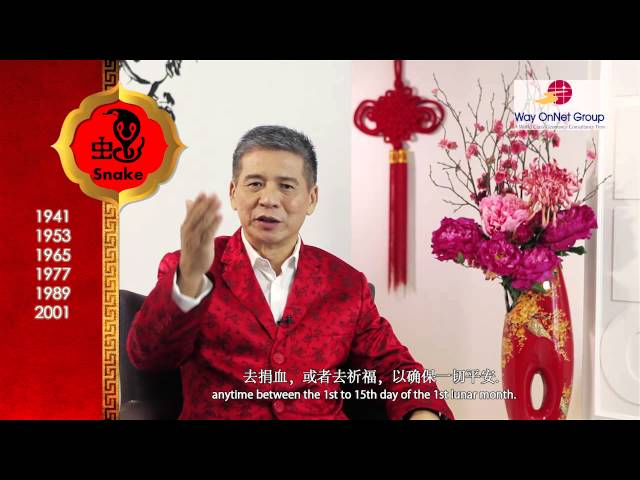 2013 Chinese Zodiac Forecast for Snake by Grand Master Tan Khoon Yong (Feng Shui - Singapore)