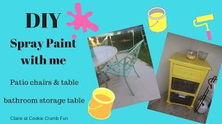 DIY-With Spray Paint||Patio furniture