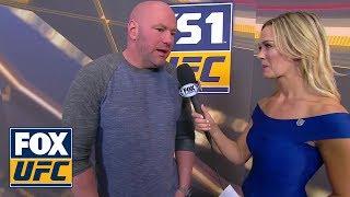 Dana White talks after a wild Fight Night in Denver | INTERVIEW | UFC FIGHT NIGHT