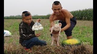 Trứng Vịt Nhồi Dưa Hấu Và Pha Cứu Chuột Đuối Nước Cười Ra Nước Mắt Của Mao Đệ Đệ