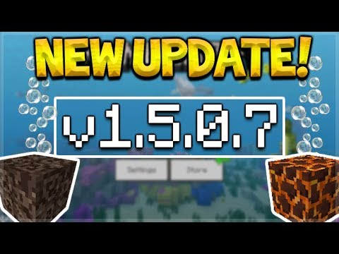 NEW MCPE 1.5.0.7 UPDATE! Minecraft Pocket Edition - 2 NEW Bubble Columns Added!