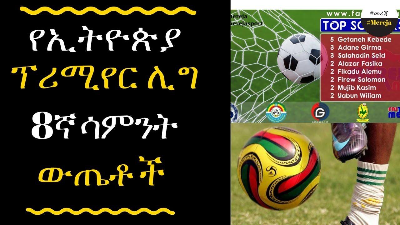 ETHIOPIA -Ethiopia premier league round 8 results