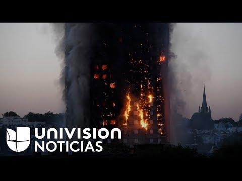 Incendio en edificio de 27 pisos moviliza a cientos de bomberos en el oeste de Londres