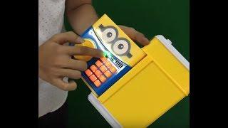 Hướng dẫn sử dụng Két sắt mini đồ chơi Thông Minh đựng tiền cho bé
