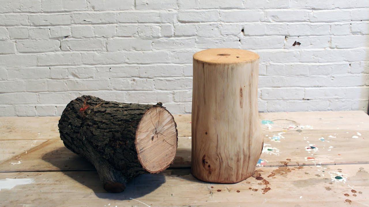 Diy Log End Table Youtube