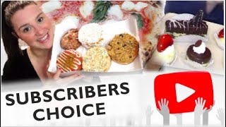 Subscribers Choose my Cheat Day | Breakfast | Lunch | Dessert | Supper