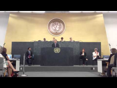 Oscar Chacón at UN Civil Society Hearings