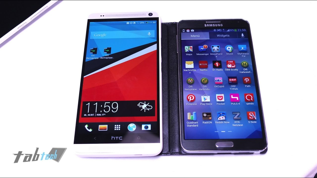 Note 3 vs Htc One Max