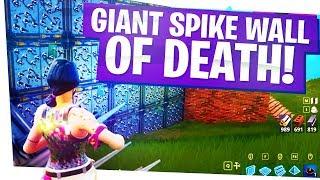 GIANT SPIKE WALL OF DEATH! - New Impulse Nade Fun! - Fortnite