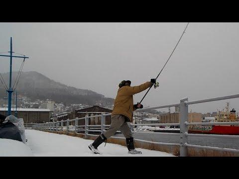 真冬の函館で釣りしたら死にますよ。w